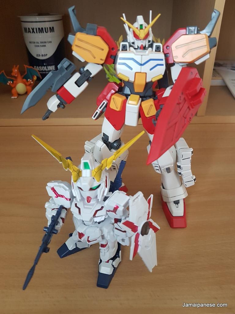 Chibi RX-0 Unicorn Gundam with Heavy Arms