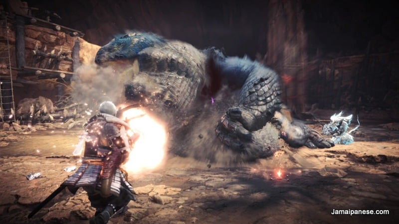 Monster Hunter World light bowgun action
