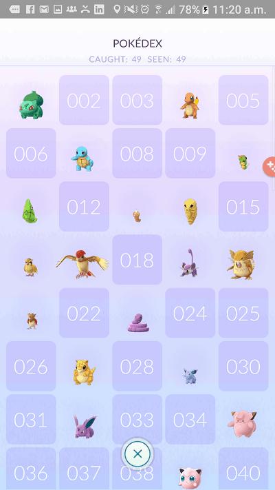 Pokemon Go Pokedex Images