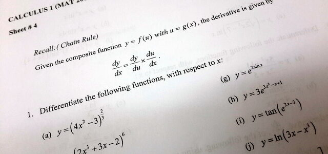 Calculus Worksheet