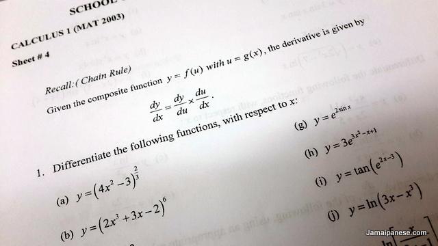 Calculus Worksheet