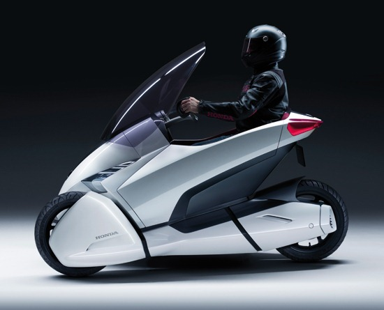 Honda 3rc Concept Vehicle with rider