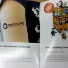 Aperture Laboratories Temporary tattoo arm