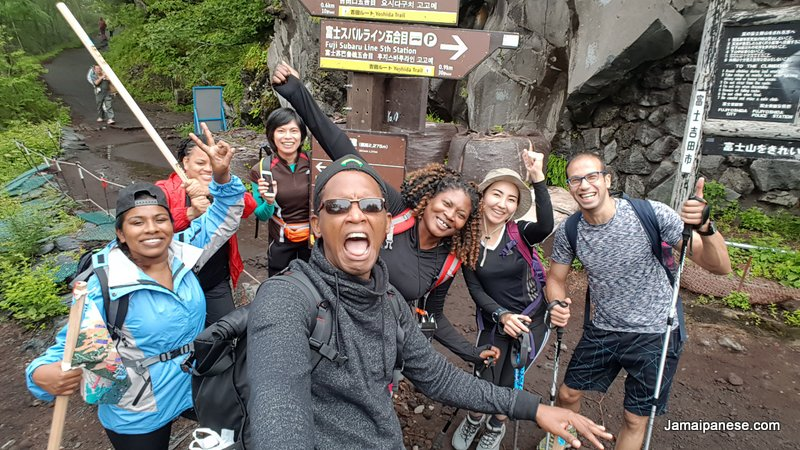 Mount Fuji Hike group