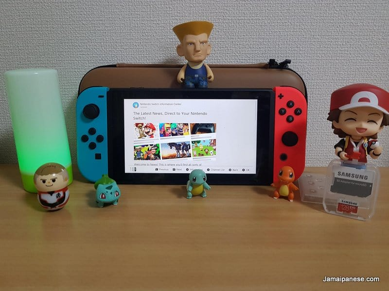 Nintendo Switch with figures